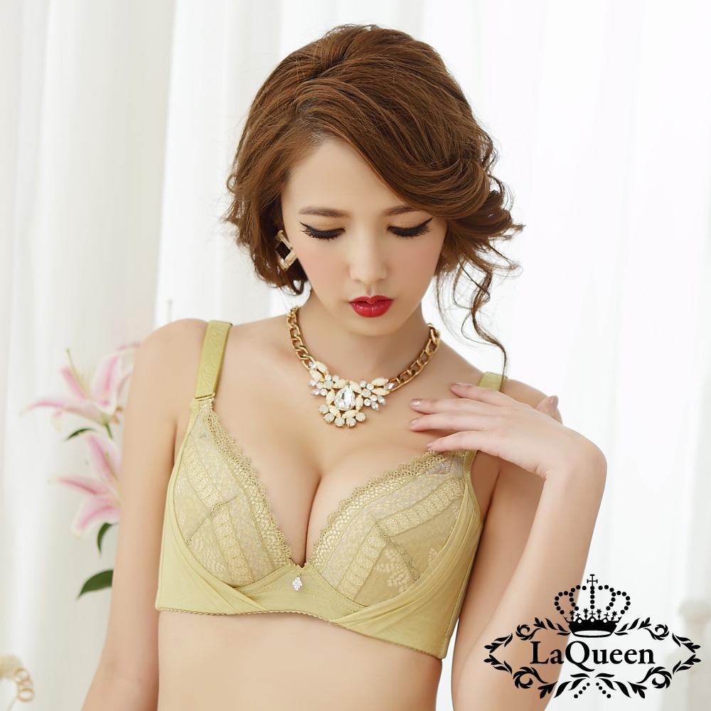 內衣 優雅魅力超包覆成套內衣-綠  La Queen