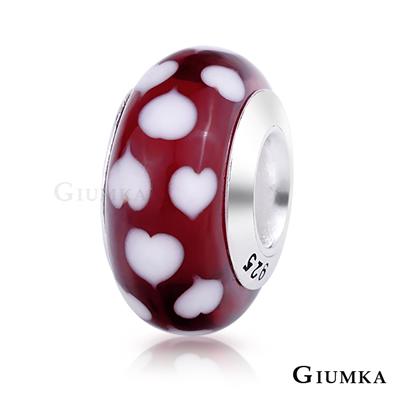 GIUMKA 925純銀串珠珠飾 CHARMS 琉璃幻彩-愛心