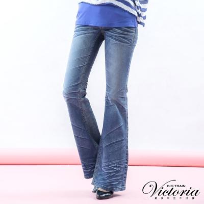 Victoria 喇叭褲-女-淺藍