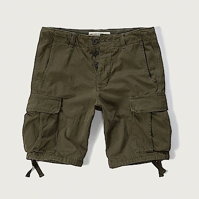 AF a&f Abercrombie & Fitch 短褲 綠色 0800