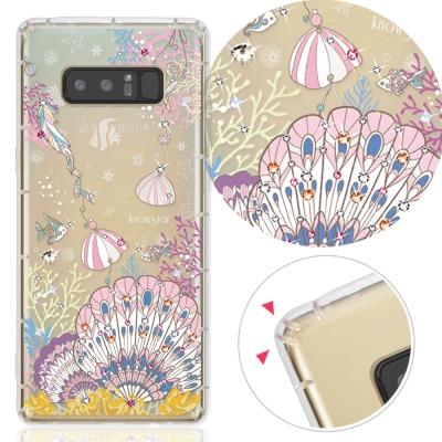 KnowStar 三星 Galaxy Note8 奧地利彩鑽防摔手機殼-珊瑚海