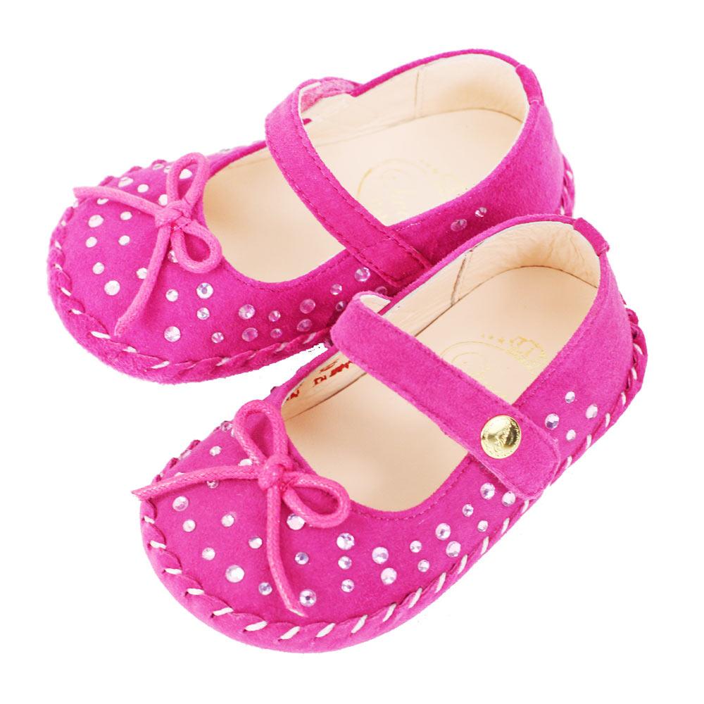 Swan天鵝童鞋- 閃耀水鑽學步鞋1495-桃