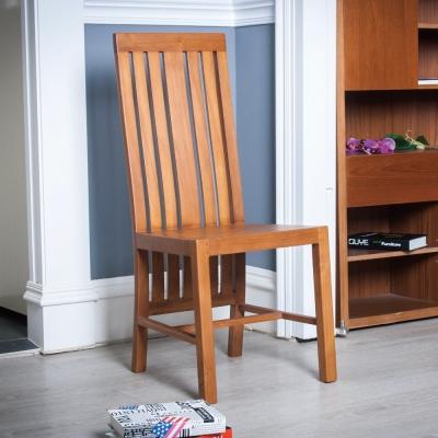 杰諾家居-坎帕尼亞高背柚木實木餐椅-50x46x99cm