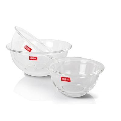 樂扣樂扣 耐熱玻璃調理碗三件組-彩盒(8H)