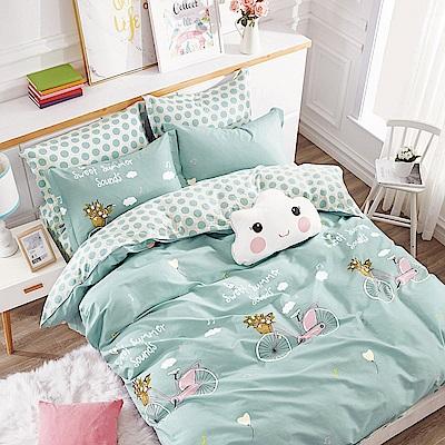 Ania Casa-台灣製 100%純棉 - 加大床包枕套三件組 - 伊尚單車