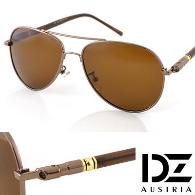 【2件59折】DZ 摩登名仕 抗UV 偏光太陽眼鏡墨鏡(銅咖)