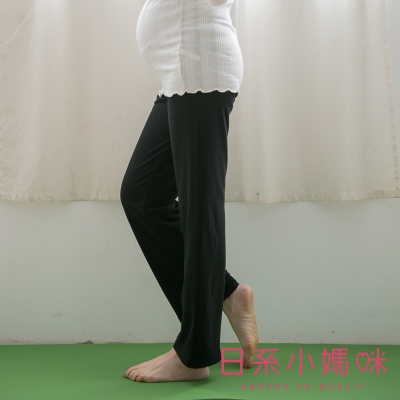 日系小媽咪孕婦裝-韓製孕婦褲~舒適柔棉素面瑜珈褲 (共四色)