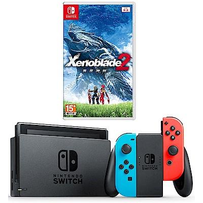 任天堂Nintendo Switch-電光藍/紅 Joy-Con(異度神劍)