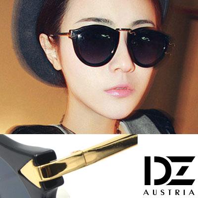 【2件59折】DZ 個性箭矢 抗UV太陽眼鏡造型墨鏡(亮黑系)