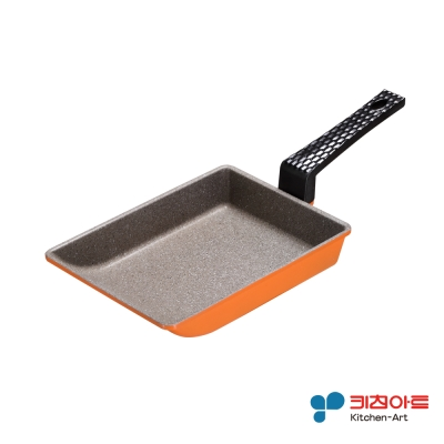 韓國Kitchen Art 亮麗橘鈦晶石玉子燒鍋19cm
