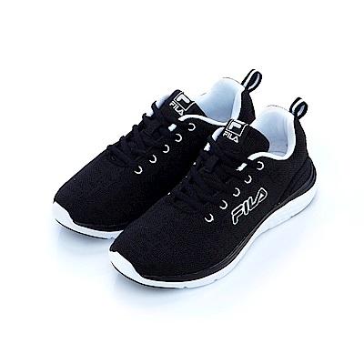 FILA 女慢跑鞋-黑 5-J201S-001