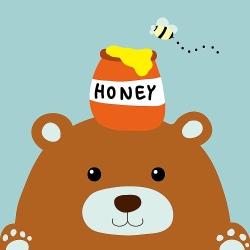 LOVIN 超萌韓版數字油畫 可愛蜂蜜熊(10) 1幅