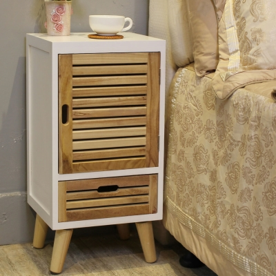 Asllie 妮可一門一抽收納櫃/邊櫃/電話櫃/床頭櫃-33x30x66.5cm