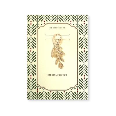 FUNZAKKA 18K金自然系造型書籤-橄欖葉