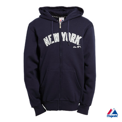 Majestic-紐約洋基隊運動連帽外套-深藍(男)