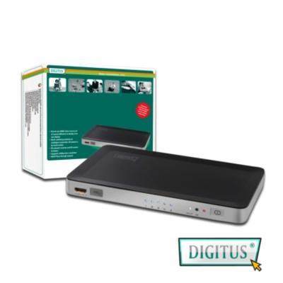 曜兆DIGITUS HDMI ~DS-45300五入一出切換器(附遙控器與電源)