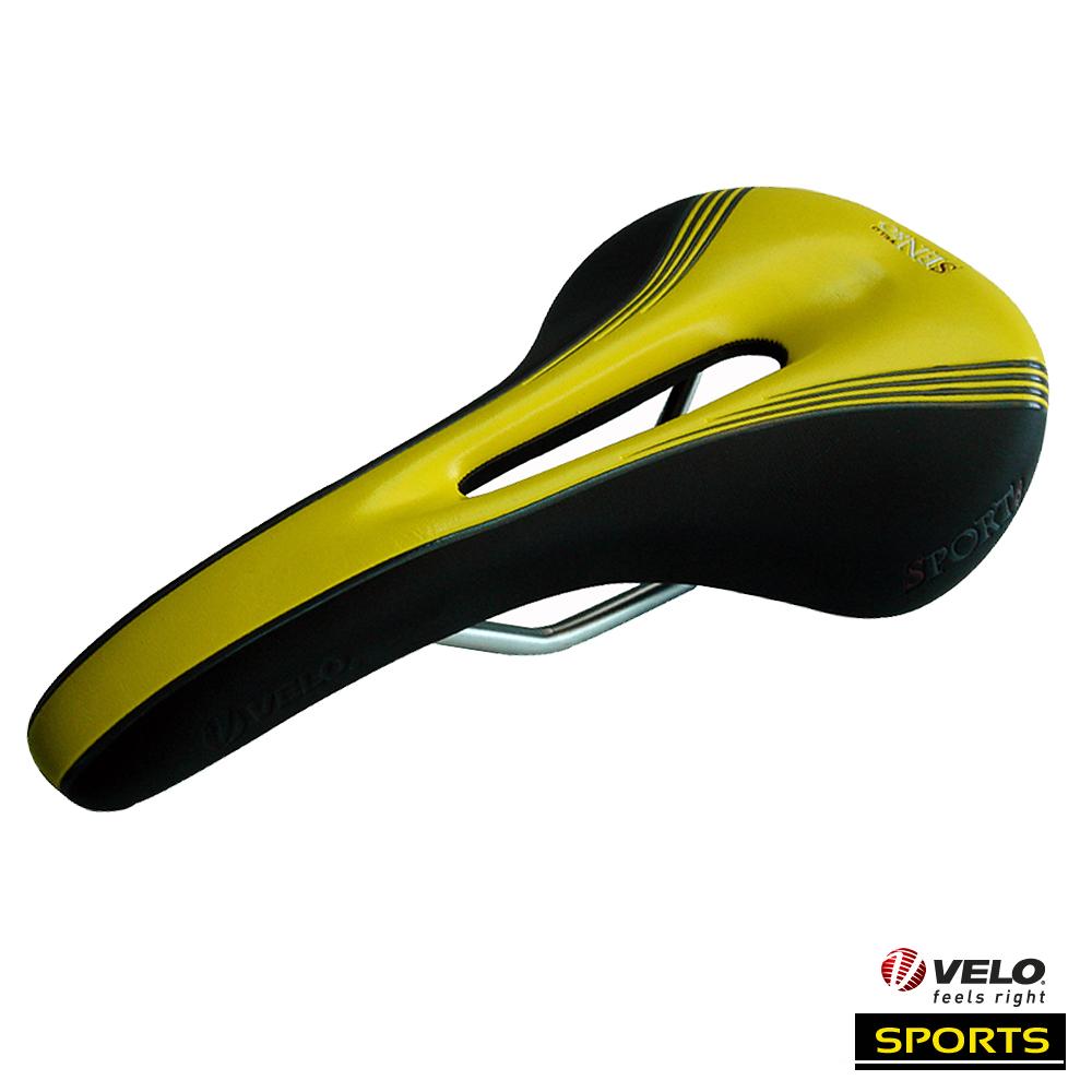 VELO 【Sports】中空曲線 拱形懸吊避震座墊(黑黃色)