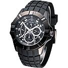 SEIKO LORD 捍衛聯盟星期逆跳多環腕錶(SRL071P1)-IP黑/43mm