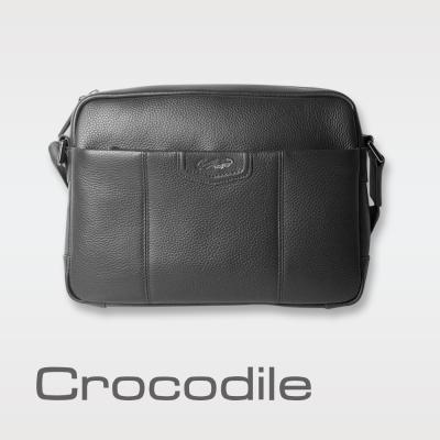 Crocodile Luster系列橫式斜背包(L) 0104-07103