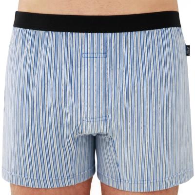 SOLIS 百搭條紋系列M-XXL竹碳纖維合身四角褲(尊爵藍)