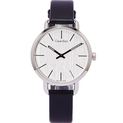 CK Calvin Klein 大自然木質感手錶(K7B231C6) -銀白色面/36mm