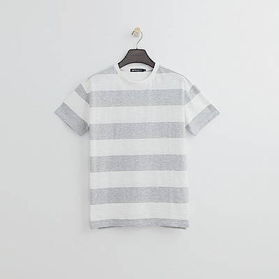 Hang Ten - 女裝 - 條紋寬版T恤-灰色