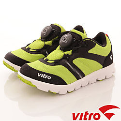 Vitro韓國專業運動品牌-DIAL-BOA運動童鞋-螢光綠(男)
