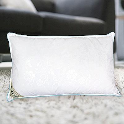 多利寶寢具 飯店質感透氣緹花羽毛枕(1入)