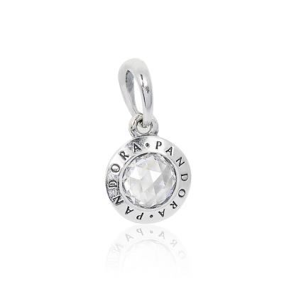 Pandora 潘朵拉 PANDORA標誌吊墜鋯石 垂墜純銀墜飾 串珠