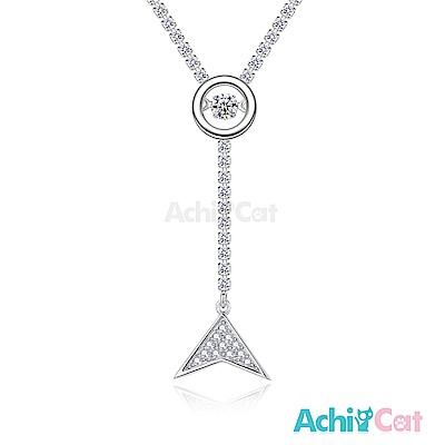 AchiCat 925純銀 跳舞的項鍊 夢幻美人魚 跳舞石 (銀色)