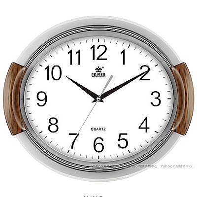 POWER霸王鐘錶-動感旋轉音樂掛鐘-潔淨白-PW-830-WKS-37.3CM