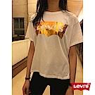 T恤 女裝 寬身短版 金色Logo - Levis