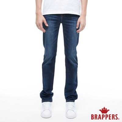 BRAPPERS 男款 HM-中腰系列-彈性修身直筒褲-藍