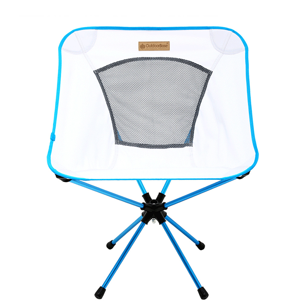 【OutdoorBase】AMOEBA變形蟲-360度輕量鋁合金旋轉椅-雅典白