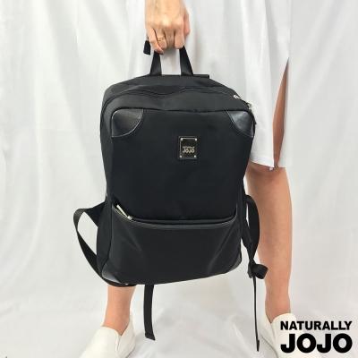 NATURALLY JOJO 基本方型後背包(黑)
