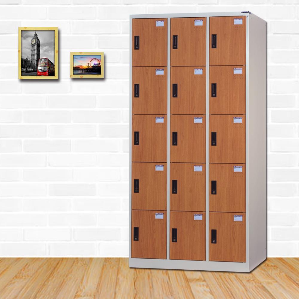 時尚屋 帝莫西多用途塑鋼製15格置物櫃 寬90x深35x高180cm