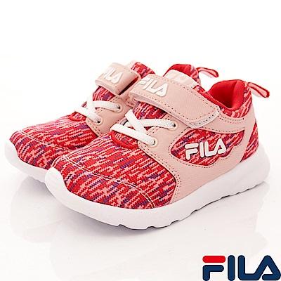 FILA 頂級童鞋 輕量記憶鞋墊慢跑款 422S-551粉(中大童段)