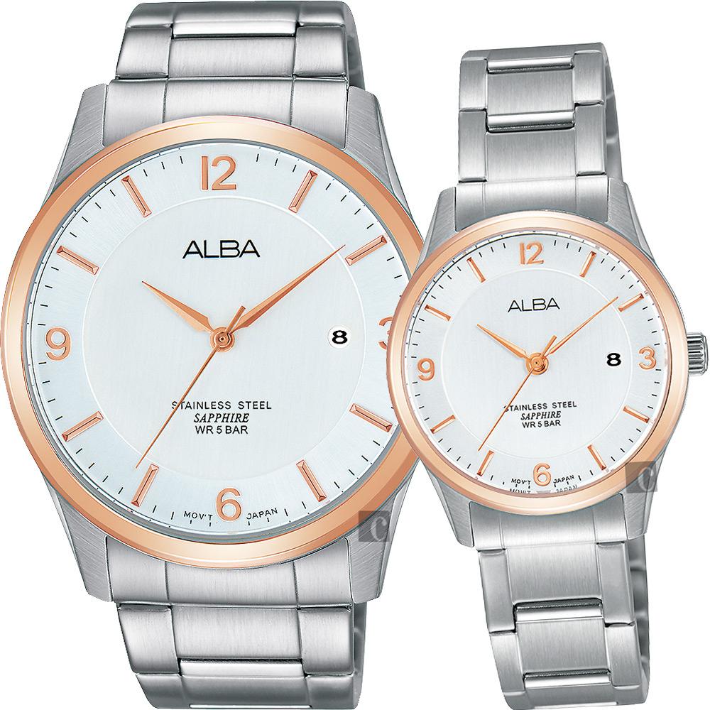 ALBA 時尚東京石英對錶(AS9C92X1+AH7M20X1)-40+28mm