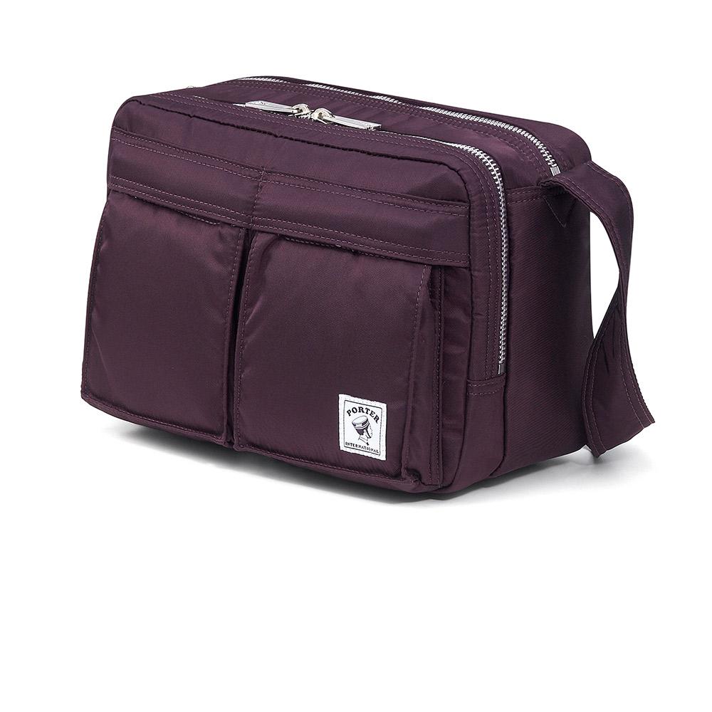 PORTER經典新風潮MA-1輕量斜背包葡萄紫