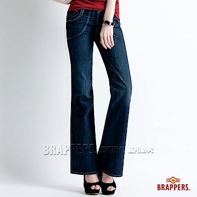BRAPPERS 女款 Lady Vintage 系列-中低腰大靴型褲-藍