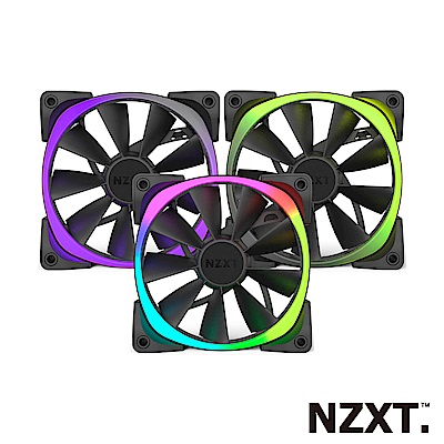 【NZXT 恩傑】Aer RGB Series 12公分風扇 三顆裝(RGB系統風扇)