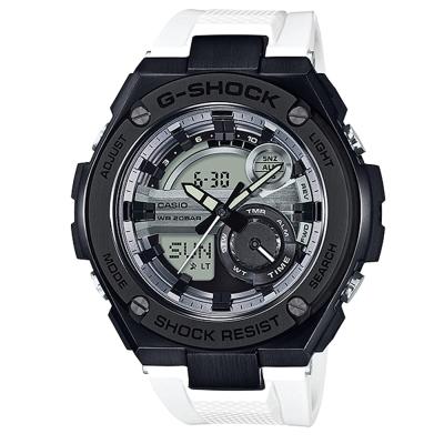 G-SHOCK精密防震分層防護構造概念休閒錶(GST-210B-7A)黑框X白52.4mm