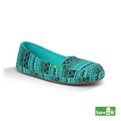 SANUK 民俗圖騰娃娃鞋-女款(湖水綠)