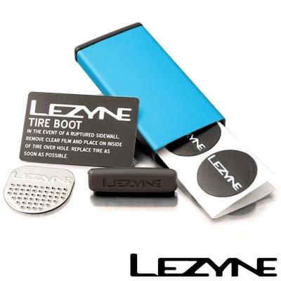 LEZYNE METAL KIT彩色鋁盒補胎片組 (藍)