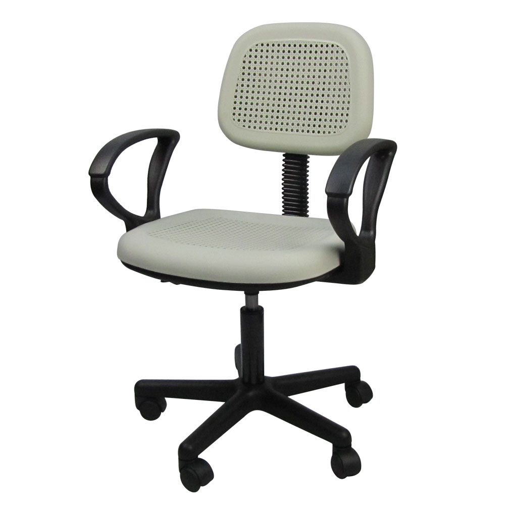 LOGIS 塑鋼輕巧辦公電腦椅(白色)