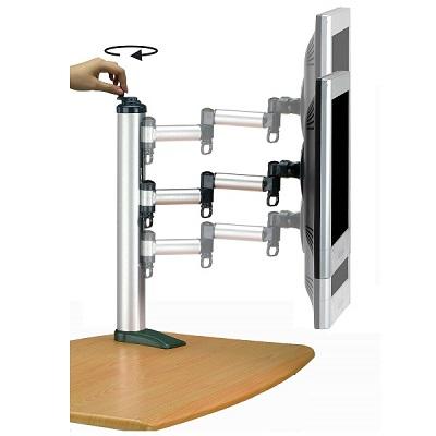 FOGIM夾桌旋轉式液晶螢幕支架(單螢幕)-終身保固