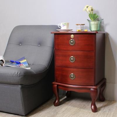 Asllie 英式三抽櫃/收納櫃/邊櫃/電話櫃/床頭櫃-40x36x65cm