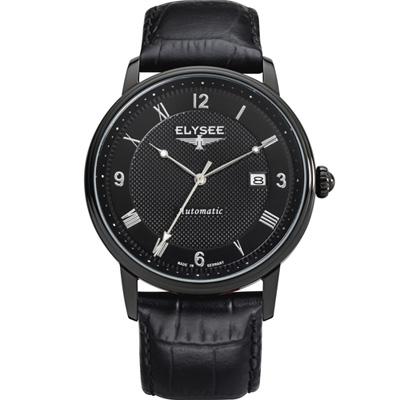 ELYSEE Monumentum  自動上鍊機械錶-黑/41mm