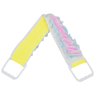 80cm長雙拉式雙面按摩搓背巾泡沫搓澡巾(BT80)
