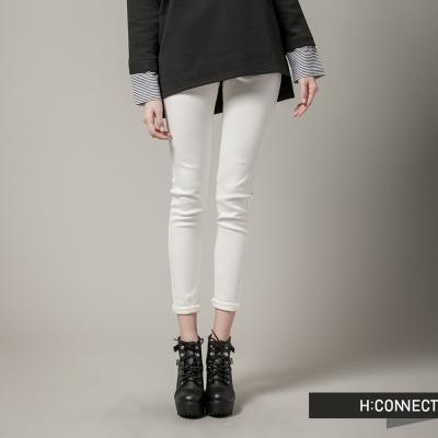 H:CONNECT 韓國品牌 女裝 - 顯瘦修身小腳褲- 白(快)